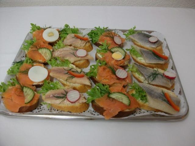 Baguettes mit Fisch