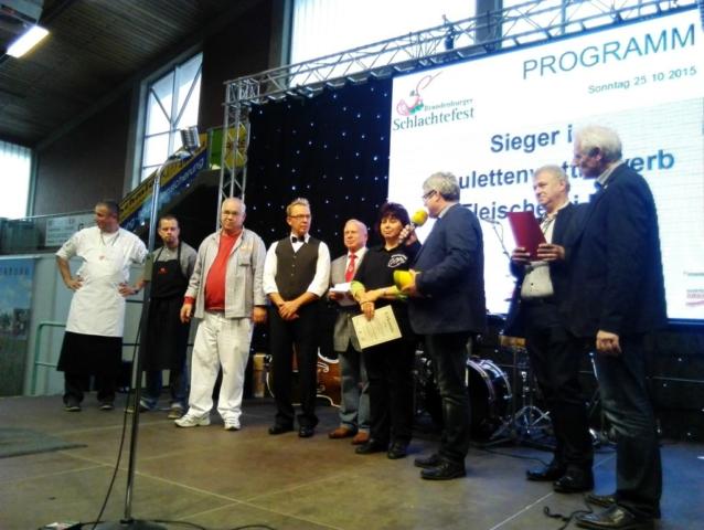 Sieger im Bouletten -Wettbewerb in Paaren Glien 2015