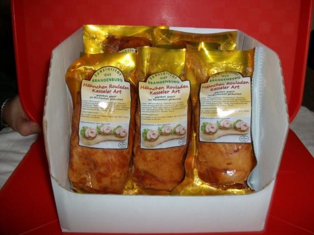 Spezialität unserer Produktion - Kassler-Hähnchenrouladen